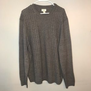 Dockers cable crew gray sweater